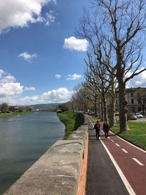 Sunday walk east along Arno - 2